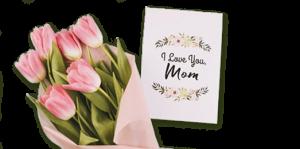 Цветы с открытками