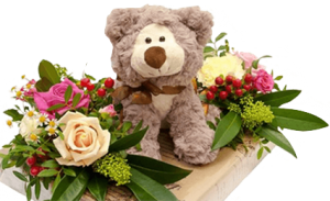 Мягкие игрушки с цветами