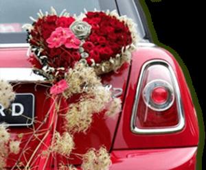 Оформление автомобиля цветами