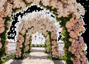 Оформление свадебной церемонии цветами