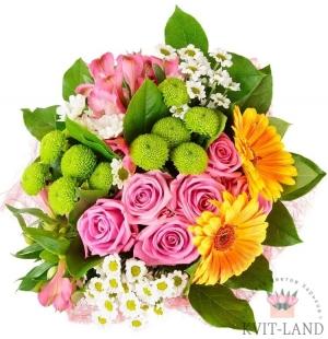 цветочный микс букет
