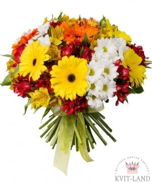 гербера в букет цветов
