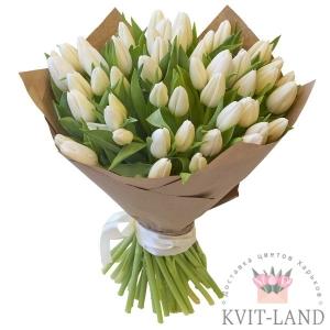 букет из белого тюльпана