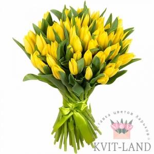 желтый тюльпан 51 шт букет