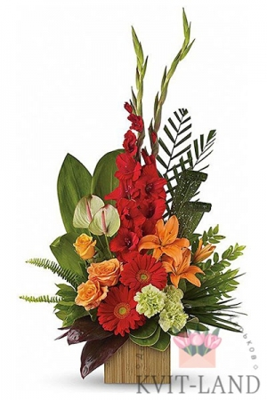 гладиолус в букете цветов