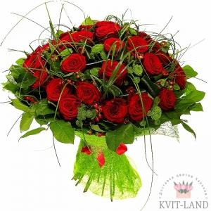 25 шт красной розы в букете