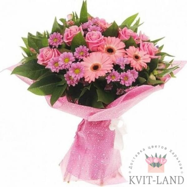 букет розового цвета