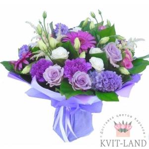 фиолетовый букет цветов