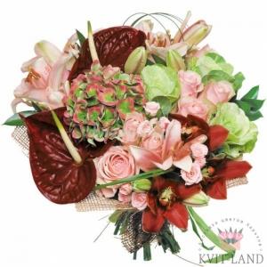 экзотический букет цветов
