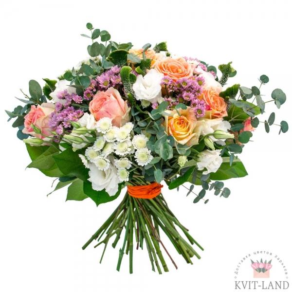 цветы с экзотиков в букете