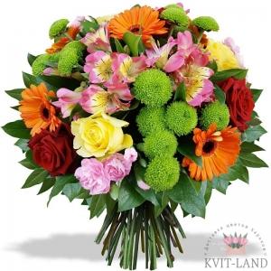 букет разноцветных цветов