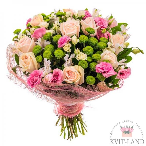 цветочная композиция в упаковке