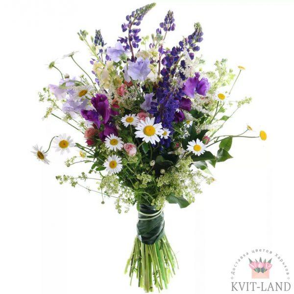 полевые цветы в букете