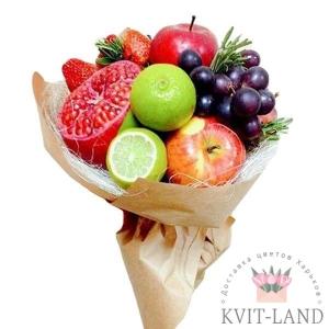фруктовый букет в упаковке