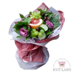 букет из фруктов в упаковке