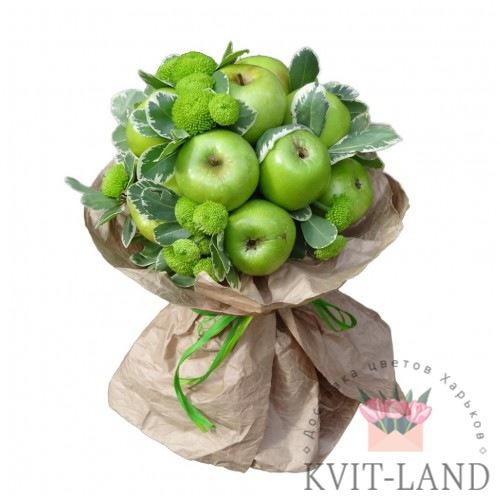 зелёного цвета фруктовый букет