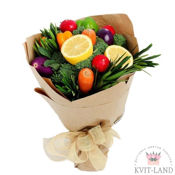 букет из фруктов и овощей