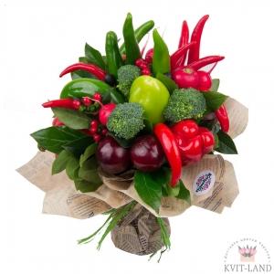 овощи и зелень в букете