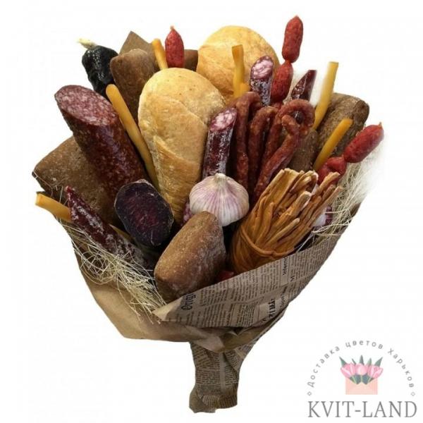 колбасо-хлебный букет