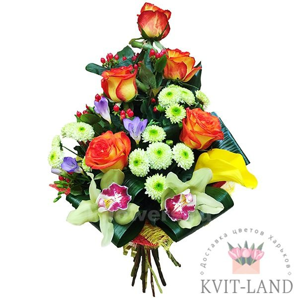 цветочное ассорти в букете