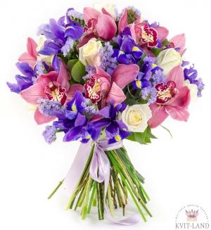 красивый букет с орхидеей