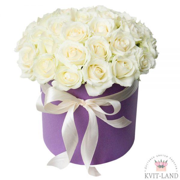 шляпная коробка с белой розой