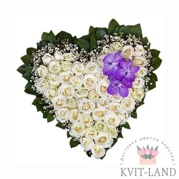 каркас сердце с розы и ванда