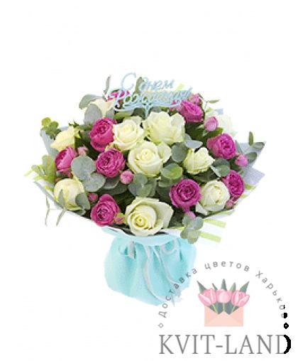 красивые розы с открыткой