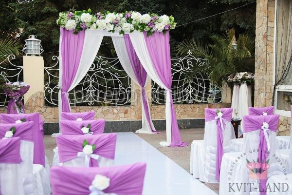 зона церемонии цветочное украшение
