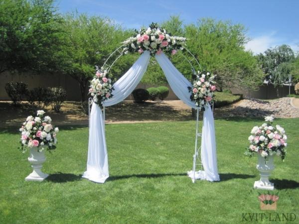 зона церемонии цветочное оформление