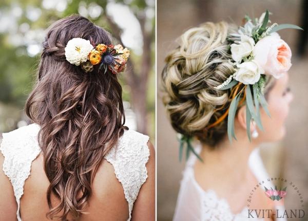 свадебные диадемы из цветов