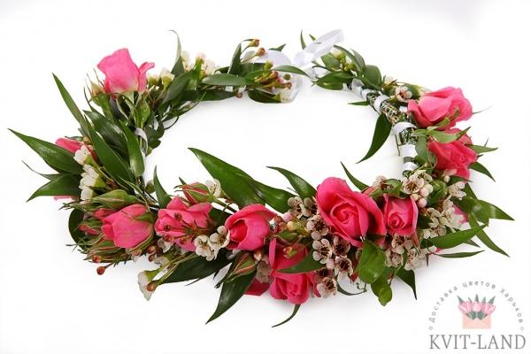 диадема невесты из цветов