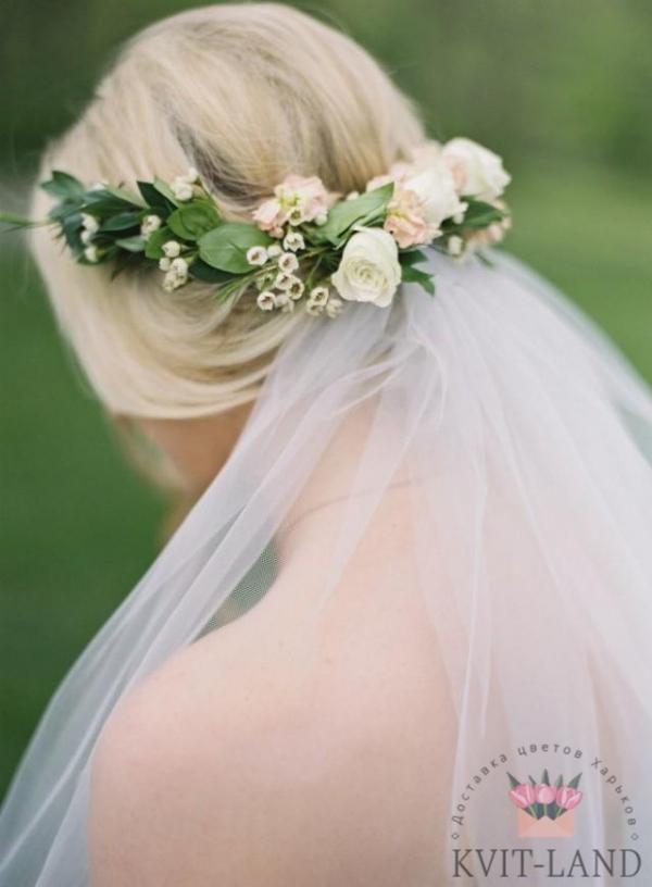 свадебный венок невесты
