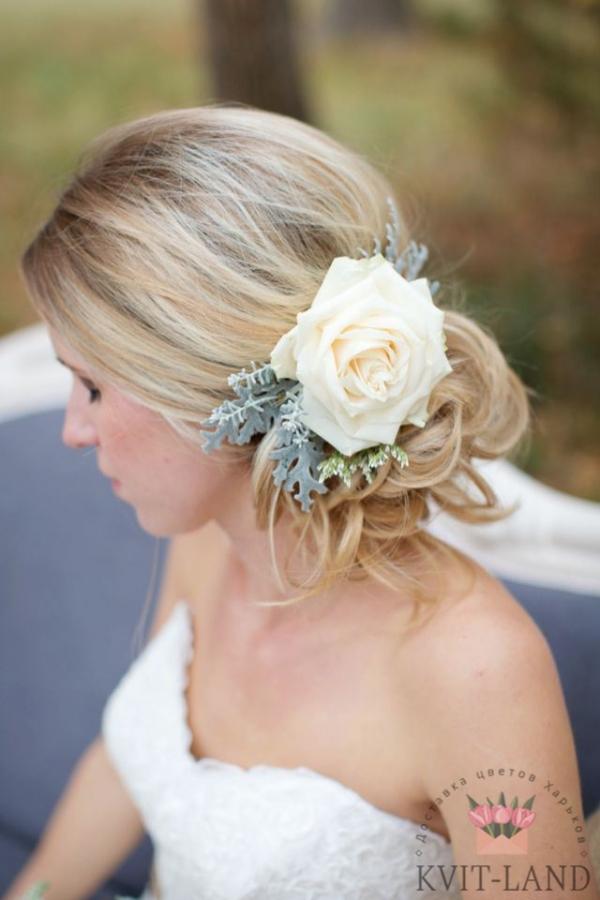 свадебный венок из розы