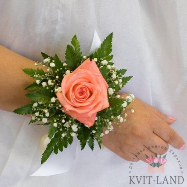 браслет невесты из цветов
