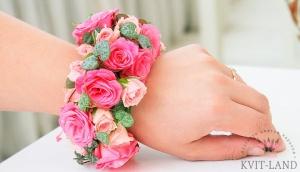 свадебный браслет из роз