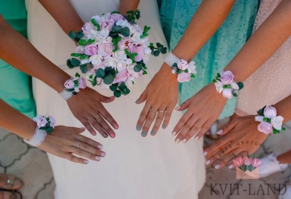 цветочные браслеты на свадьбу