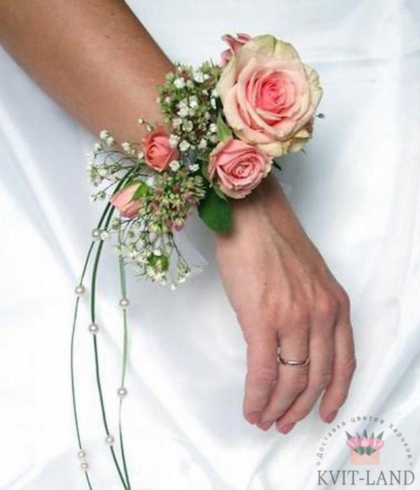 браслет невесты из роз