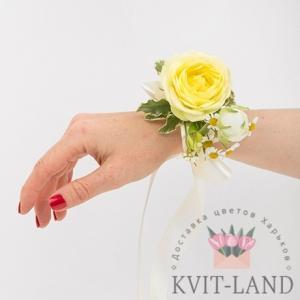 браслет невесты из розы