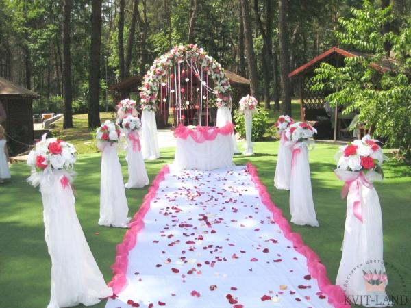 свадебное украшение арки