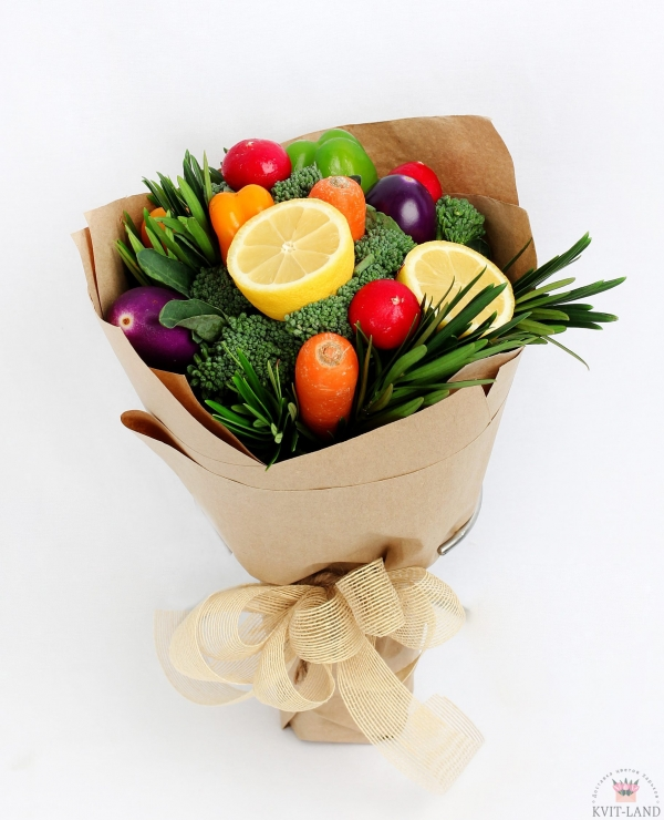 букет из овощей с лимоном