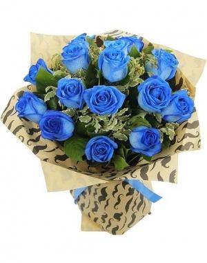 букет синяя роза 11 шт