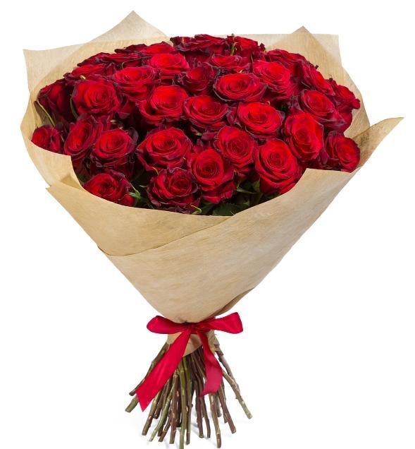 красная роза букет