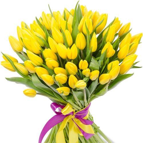 желтый тюльпан букет