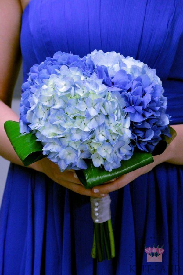свадебный букет из гортензии