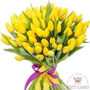 букет тюльпана желтого