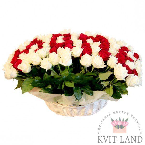 роза в корзине для мамы
