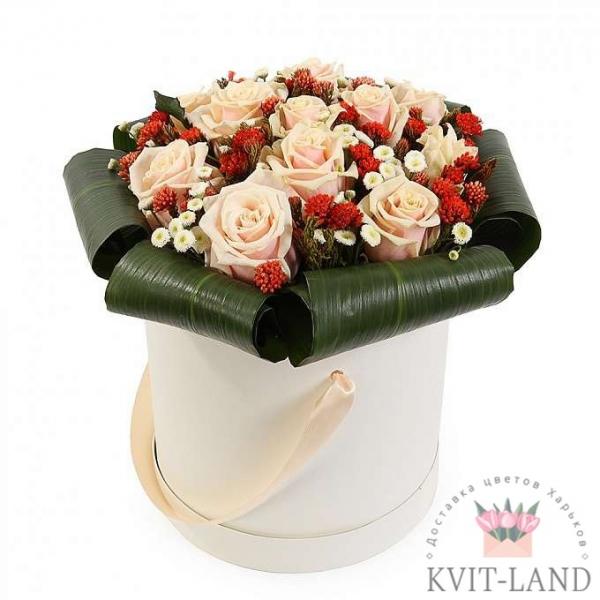 шляпная коробка с розой