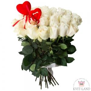 голландская белая роза букет