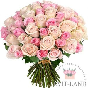нежно-розовый букет роз